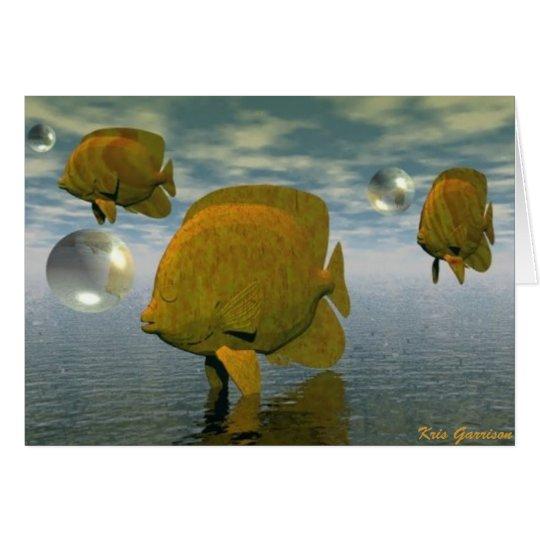 Fisch-Träume Grußkarte