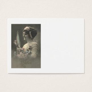 Fisch-viktorianisches FrauPoisson d'avril Visitenkarte