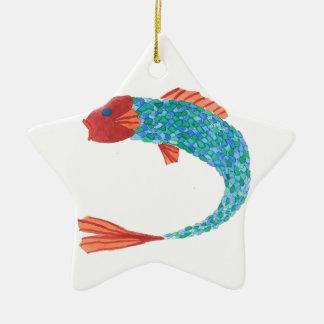 Fischartig Keramik Stern-Ornament