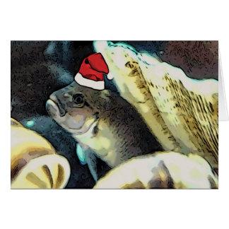 Fischartige Sankt-Weihnachtskarte Karte