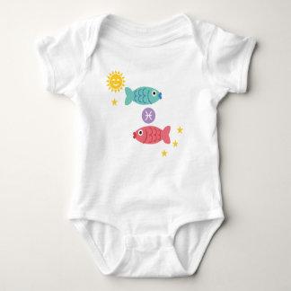 Fischbabybodysuittierkreis-Sternzeichen Fische Baby Strampler