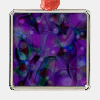 Fische • Behälter Quadratisches Silberfarbenes Ornament
