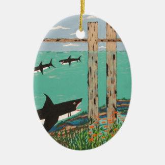 Fische, die nicht heute beißen ovales keramik ornament