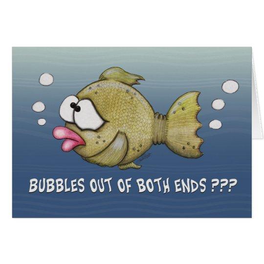 Fische mit Blasen aus beide Enden-Karte heraus Mitteilungskarte
