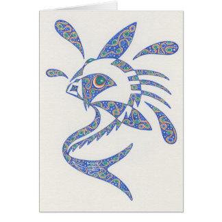 Fische mit Haltung Notecard Karte