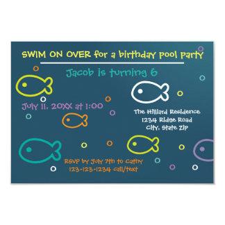 Fische u. Blasen - B-tägige Party Einladung des