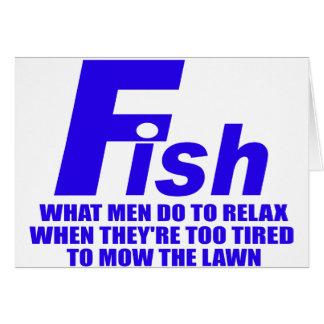 Fische, welche Männer tun Karte