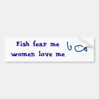 Fischen ist ein schmutziger Job, aber jemand muss Autoaufkleber