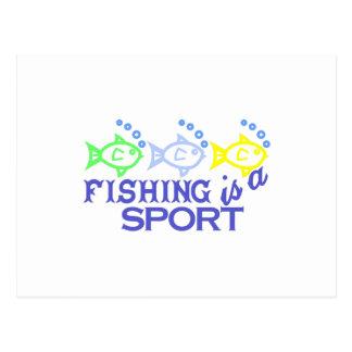 Fischen ist ein Sport Postkarte