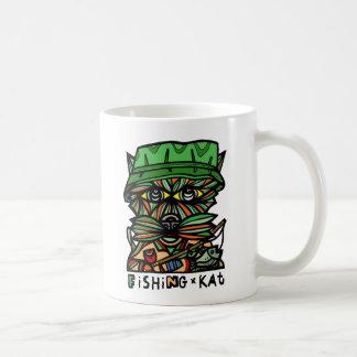 """Fischen Kat"" 11 Unze-Klassiker-Tasse Kaffeetasse"