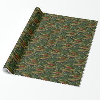 Fischen-Packpapiercoho-Lachs-Weihnachtspapier Geschenkpapier
