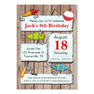 Fischen-Thema-Party Einladung