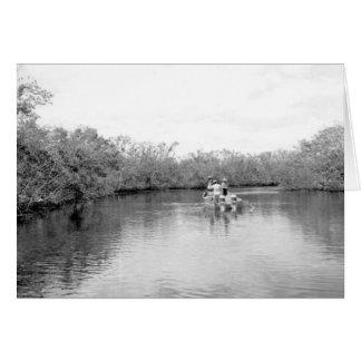 Fischer auf Lostmans Fluss, Florida-Sumpfgebiete Karte