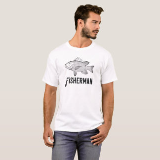 Fischer der Geschichte-Baß des Fischers T-Shirt