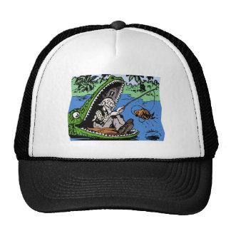 Fischer in einem Alligator Kult Mützen