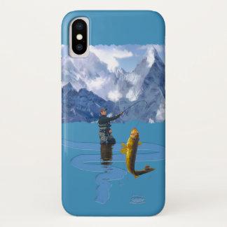 Fischer u. Rod, die draußen Entwurf 2 fischen iPhone X Hülle
