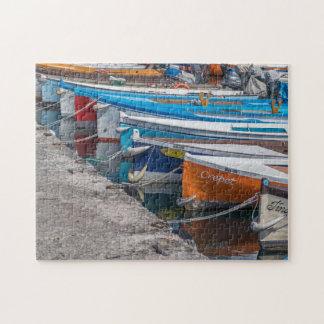 Fischerboot-Fotopuzzlespiel