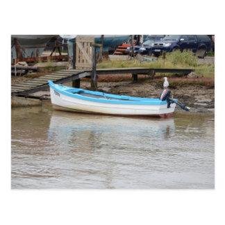 Fischerboot-Seeschwalbe Postkarte