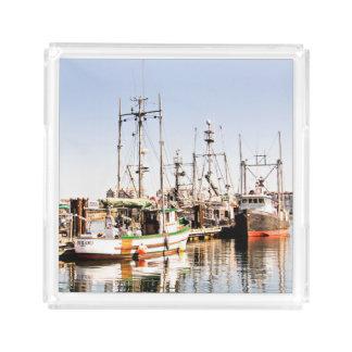 Fischerboot-Serviertablett Acryl Tablett
