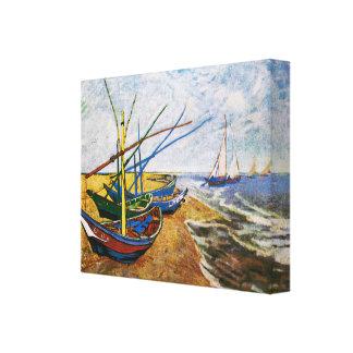 Fischerboote durch Vincent van Gogh Galerie Faltleinwand