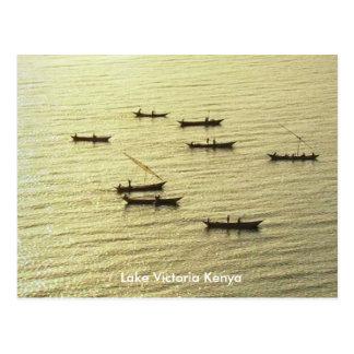 Fischerboote goldener Viktoriasee-Kenias Postkarte
