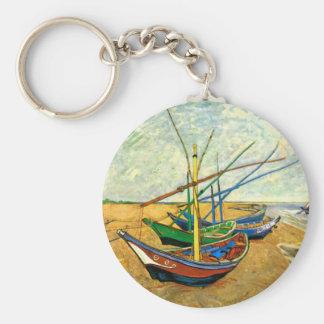 Fischerboote Van Gogh auf Strand bei Saintes Schlüsselanhänger