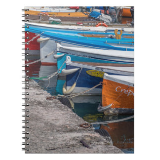 Fischerbootnotizbuch Spiral Notizblock