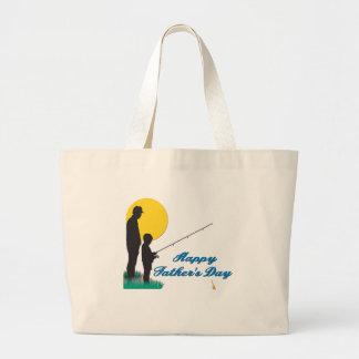 Fischerei des glücklichen Vatertags Taschen
