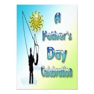 Fischerei - glückliche der Vatertags-Einladung 12,7 X 17,8 Cm Einladungskarte