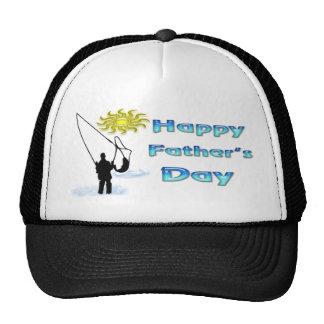 Fischerei - glücklicher der Vatertags-Hut Retrokultmütze