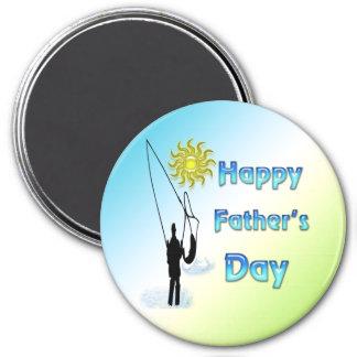 Fischerei - glücklicher der Vatertags-Magnet Kühlschrankmagnet