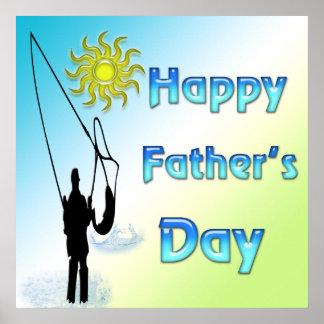 Fischerei - glückliches der Vatertags-Plakat Poster