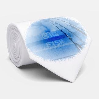 Fischerei großen blauen und weißen Stangentraum Personalisierte Krawatten