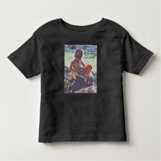 Fischerei in den Gezeiten-Pools Kleinkind T-shirt