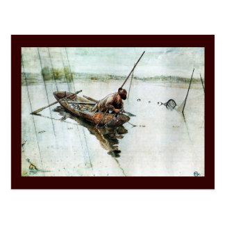 Fischerei mit Netzen 1905 Postkarte