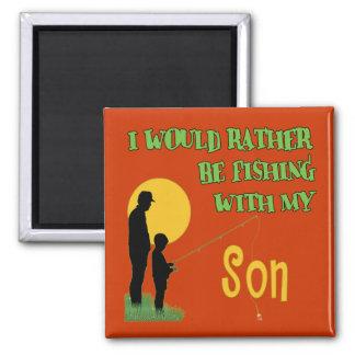 Fischerei mit Sohn Kühlschrankmagnete