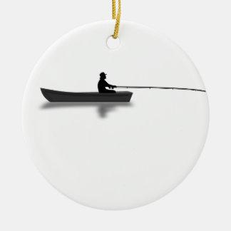 Fischerei Rundes Keramik Ornament