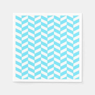 Fischgrätenmuster-weißes helles blaues papierserviette