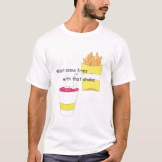Fischrogen heben Linie auf T-Shirt