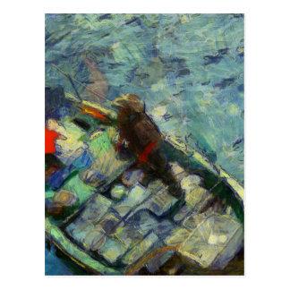 fisherman_saikung Hong Kong Postkarte