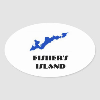 Fishers Insel-Aufkleber Ovaler Aufkleber