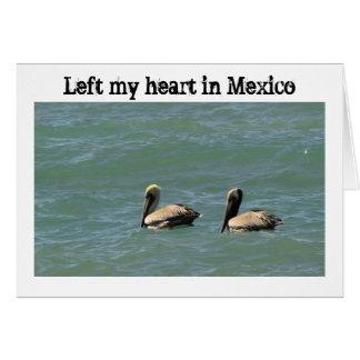 Fishin Freunde; Mexiko-Andenken Karte