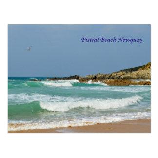 Fistral Strand Newquay Cornwall England Postkarte