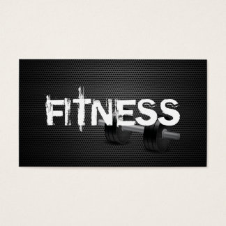 Fitness u. persönliches Trainer-Dunkelheits-Metall Visitenkarten