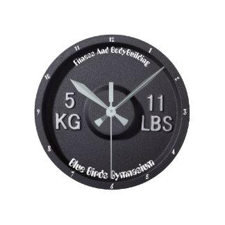 Fitness-und Bodybuildings-Turnhallen-Uhr Runde Wanduhr
