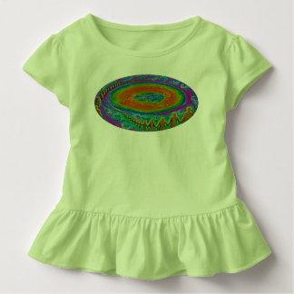 Flaches Erdkleinkind-T-Shirt ursprüngliche Malerei Kleinkind T-shirt