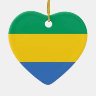Flag_of_Gabon Keramik Ornament