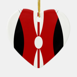 Flag_of_Kenya_ (Schild Keramik Ornament