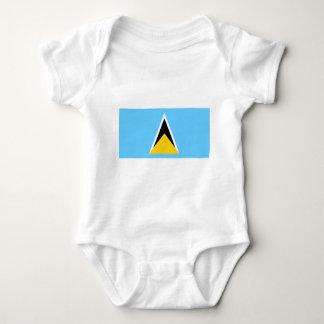 Flag_of_Saint_Lucia Baby Strampler