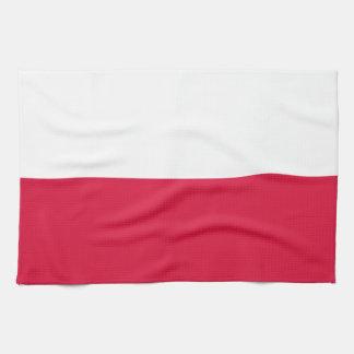 Flaga Polski - polnische Flagge Geschirrtuch